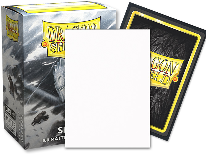 Dragon Shield Sleeves: Standard Dual Matte - Snow 'Nirin' (100 ct.)