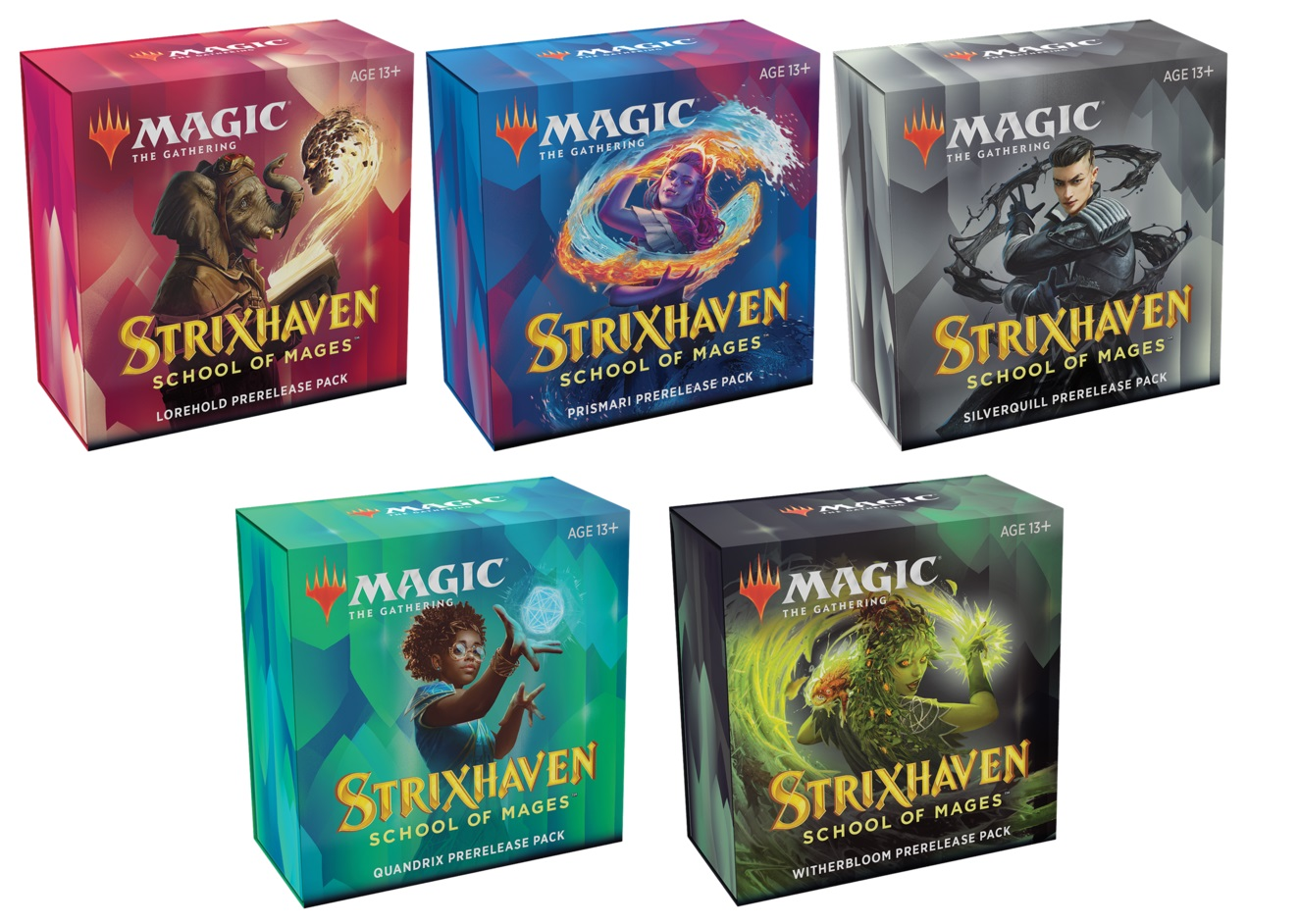 Strixhaven: School of Mages - Prerelease Pack Set of 5