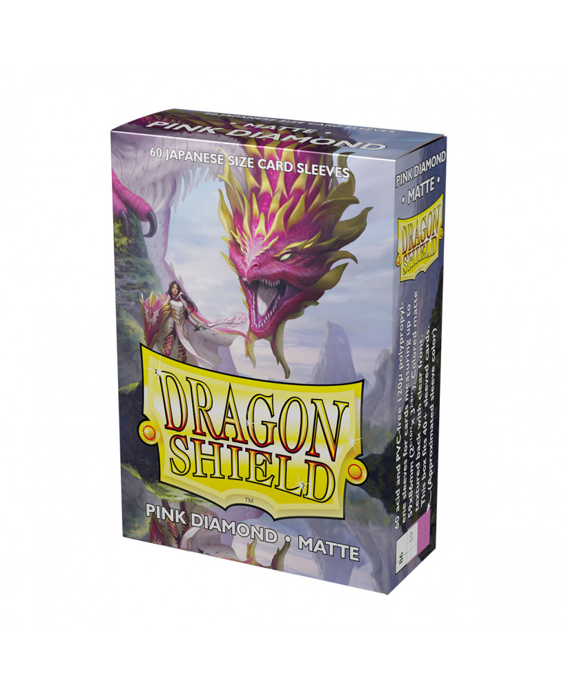 Dragon Shield Sleeves: Matte Pink Diamond (60)
