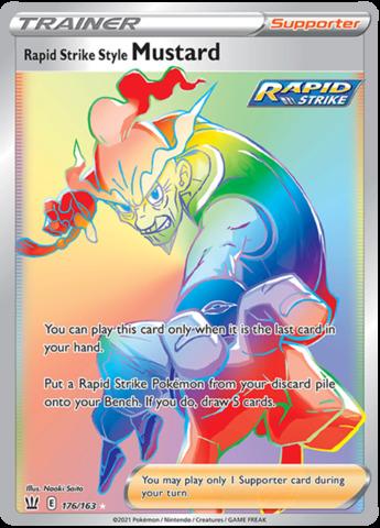 Rapid Strike Style Mustard - 176/163 - Secret Rare