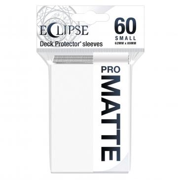 Ultra Pro: Eclipse PRO-Matte Small Deck Protector Sleeves 60ct - Arctic White