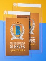Beckett Shield Card Sleeves - Semi-rigid Storage - Large / Thick (50ct)
