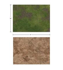 22x30 Game Mat - Broken Grassland / Desert Scrubland