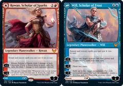 Rowan, Scholar of Sparks // Will, Scholar of Frost - Foil