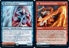Torrent Sculptor // Flamethrower Sonata- Foil