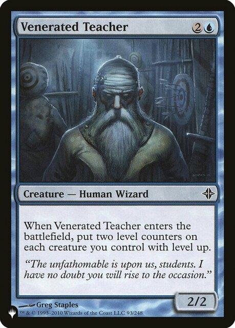 Venerated Teacher - The List