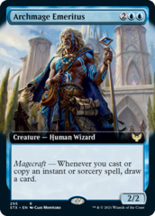 Archmage Emeritus - Foil - Extended Art