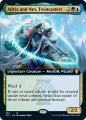 [Deprecated] [Foil ext art doesn't exist] Adrix and Nev, Twincasters - Foil - Extended Art