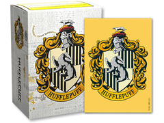Dragon Shield Harry Potter House Brushed Art Sleeves: Hufflepuff