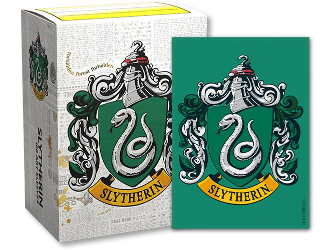 Dragon Shield Harry Potter House Brushed Art Sleeves: Slytherin