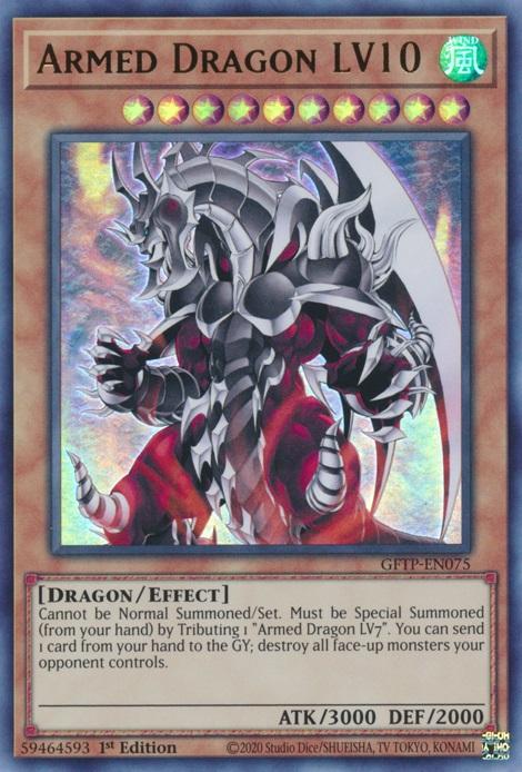 Armed Dragon LV10 - GFTP-EN075 - Ultra Rare - 1st Edition