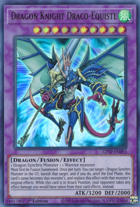 Dragon Knight Draco-Equiste - GFTP-EN093 - Ultra Rare - 1st Edition