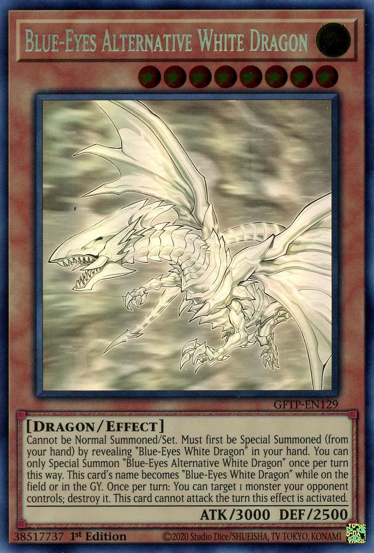 Blue-Eyes Alternative White Dragon - GFTP-EN129 - Ghost Rare - 1st Edition