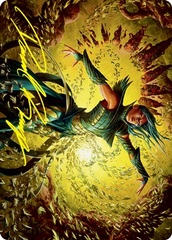 Dragonsguard Elite B Art Card - Gold-Stamped Signature