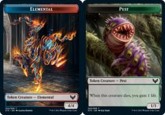Elemental Token // Pest Token - Foil