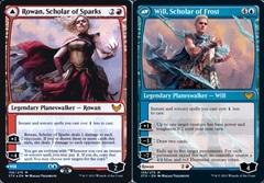 Rowan, Scholar of Sparks // Will, Scholar of Frost - Foil - Prerelease Promo