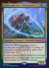 Adrix and Nev, Twincasters - Foil - Display Commander - Thick Stock