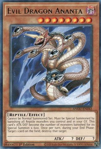 Evil Dragon Ananta - ANGU-EN042 - Rare - 1st Edition