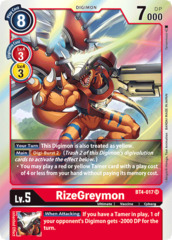 RizeGreymon - BT4-017 - SR