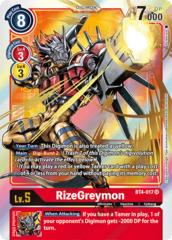 RizeGreymon - BT4-017 - SR - Alternative Art