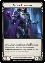 Aether Ironweave - Cold Foil - 1st Edition