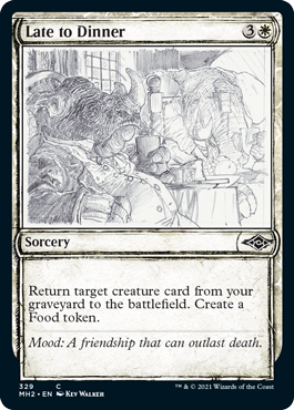 Late to Dinner - Foil - Showcase