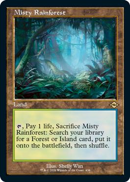 Misty Rainforest - Foil Etched - Retro Frame