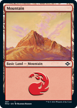 Mountain (487) - Foil Etched