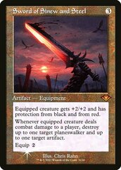 Sword of Sinew and Steel - Foil - Retro Frame