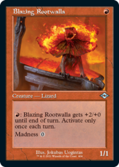 Blazing Rootwalla - Foil Etched - Retro Frame