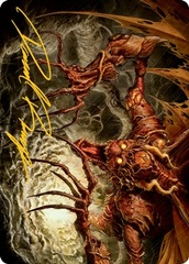 Archfiend of Sorrows Art Card - Gold-Stamped Signature