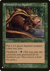 Chatter of the Squirrel - The List