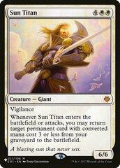 Sun Titan - The List