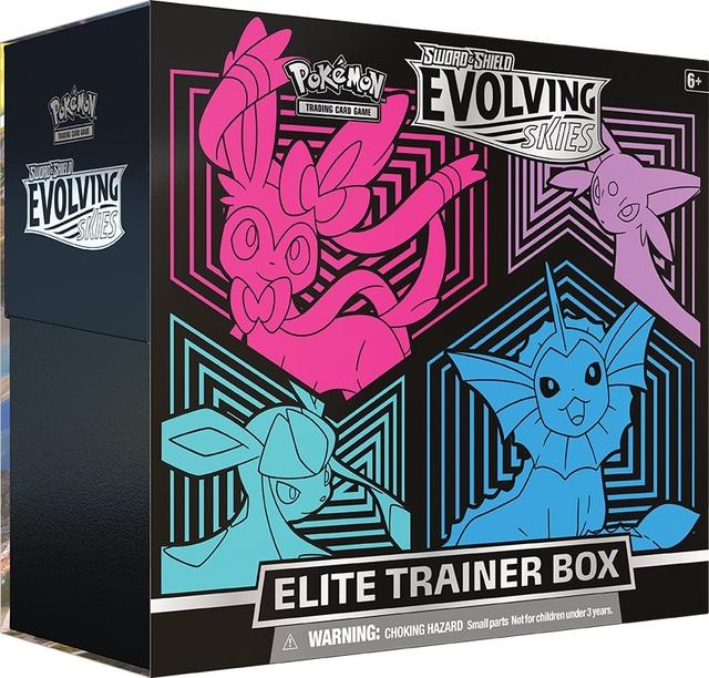 Sword & Shield: Evolving Skies Elite Trainer Box - Sylveon, Espeon, Glaceon, Vaporeon