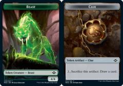 Beast Token // Clue Token (014) - Foil