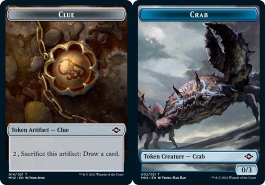 Clue Token (014) // Crab Token - Foil