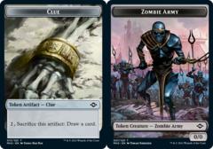 Clue Token (015) // Zombie Army Token - Foil