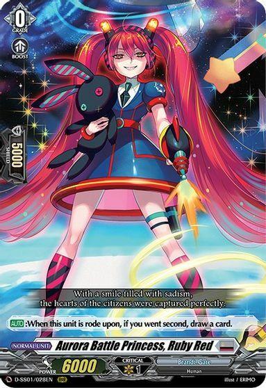 Aurora Battle Princess, Ruby Red - D-SS01/028EN - RRR