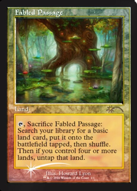 Fabled Passage - Foil - Retro Frame (Wizards Play Network 2021)