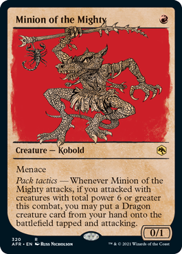 Minion of the Mighty - Foil - Showcase
