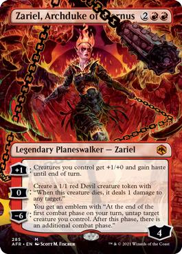 Zariel, Archduke of Avernus - Foil - Borderless