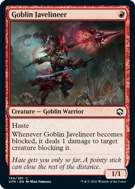 Goblin Javelineer - Foil