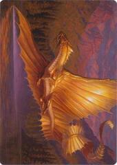 Adult Gold Dragon Art Card