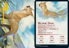 Blink Dog Art Card -  Gold-Stamped Signature