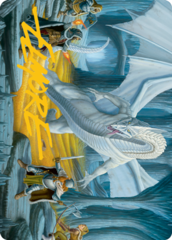 Cave of the Frost Dragon Art Card -  Gold-Stamped Signature