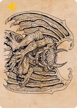 Cloister Gargoyle (Showcase) Art Card -  Gold-Stamped