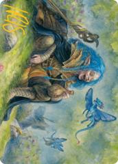 Feywild Trickster Art Card -  Gold-Stamped Signature
