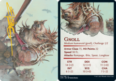 Gnoll Art Card -  Gold-Stamped Signature