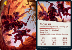 Goblin Art Card -  Gold-Stamped