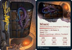 Mimic Art Card -  Gold-Stamped Signature